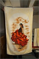 2 NEW HIS & HERS BATH TOWELS, 90% COTTON; ITALY