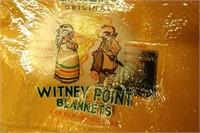 WITNEY POINT 100% WOOL QUEEN BLANKET, ENGLAND