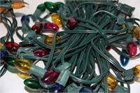 5 SETS OF CHRISTMAS LIGHTS, LIKE NEW, IN/OUTDOOR