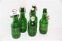 COLLECTOR GROLSCH BEER BOTTLES! CAN BE REUSED!