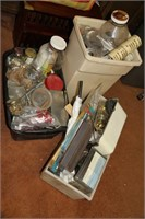 LARGE LOT, 3 CONTAINERS OF HARDWARE, SEE PICS!!!