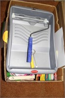 2 CONTAINERS OF PAINT / PAINTER'S EQUIPMENT