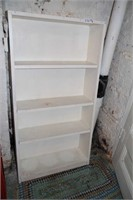 LOT OF 3 SHELVES: 2 METAL, 1 WOOD - READ!