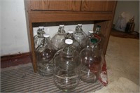 LOT OF 9 GALLON JUGS (WINE / BEER MAKING)