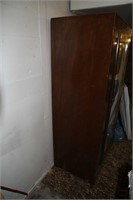 WOOD MIRROR ARMOIRE /CLOTHES CABINET 33.5WX21DX66H