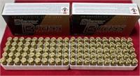 335 - TWO BOXES OF 100PCS 40 S&W BLAZER BRASS AMMO