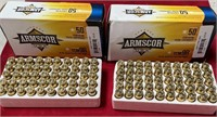 2 BOXES OF 100 HOLLOW POINT ROUNDS ARMSCOR 9R