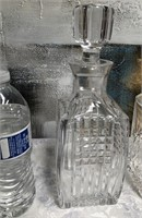 34 - LOT OF 3 BEAUTIFUL CRYSTAL DECANTERS