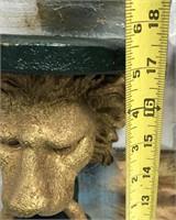 34 - BEAUTIFUL GOLD LIONS WALL SHELVES