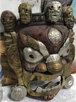 34 - AZETEC FACE MASK WALL DECOR