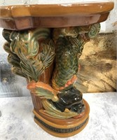 34 - GORGEOUS PAIR OF ASIAN FISH WALL SHELVES