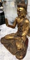 34 - BEAUTIFUL BUDDA  GOLD TONE STATUE