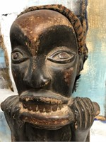 AFRICAN HAND CARVED WOODEN BILONGO FETISH STATUE