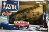 34 - LOT OF STAR WARS JEDI STARFIGHTER & SPEEDER