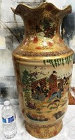 34 - GORGEOUS SATSUMA STYLE ASIAN VASE