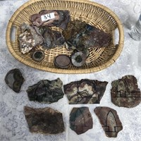 34 - HUGE LOT OF GEODES IN BASKET - SEE PICS