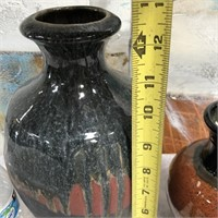 34 - LOT OF 2 DAVID HUFFMAN POTTERY VASES