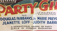 Vintage Party Girl Movie Paper Poster 39x26 -