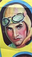 Vintage Burning Up Paper Movie Poster 39x26 -