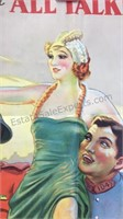Vintage The Battle of Paris Paper Movie Poster