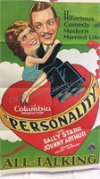 Vintage Personality Paper Movie Poster 39x26