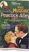 Vintage Peacock Alley Paper Movie Poster 41x25