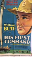Vintage His First Command Paper Movie Poster