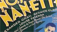 Vintage No No Nanette Paper Movie Poster 39x26 -