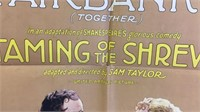 Vintage Taming of the Shrew Paper Movie Poster