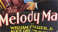 Vintage The Melody Man Paper Movie Poster 39x26