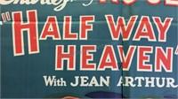 Vintage Half Way to Heaven Paper Movie Poster
