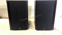 "Pair of JVC Speakers UX-B1001 10"" x 6"" x 7"