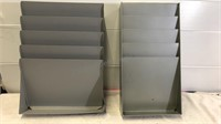 Two Vintage File Paper Organizers