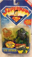 Pair of Superman Action Figures & Superman 8 Ball