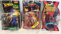 Trio of X-Men Action Figures- backs are loose