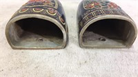 Pair of Vintage Handpainted Wall Vases