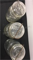4 Vintage Atlas E-Z Seal Glass Jars/Containers