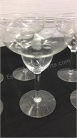 4 Etched Glass Margarita Glasses and assorted