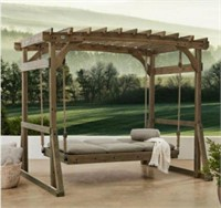 NEW STUNNING DOUBLE LOUNGER SWING W/ CANOPY FRAMED