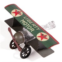Rare Liberty Motor figural airplane candy container, one of many from the Lavin Collection