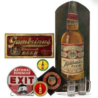 Selection of advertising, including Breweriana