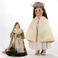 Large selection of antique dolls and other toys
