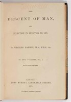 First edition of Darwin's Descent of Man