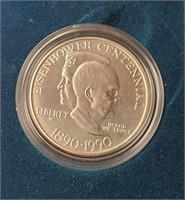 U.S. EISENHOWER CENTENNIAL SILVER DOLLAR (148)