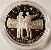 LEWIS & CLARK BICENTENNIAL SILVER DOLLAR (152)