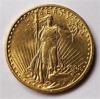 GOLD 1908 $20 DOLLAR COIN   (53)