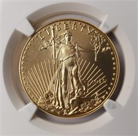 GRADED GOLD 2015 EAGLE $50 1 OZ COIN MS70 (51)