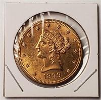 1899 GOLD $10 DOLLAR COIN  (56)