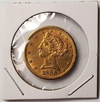 GOLD 1886 $5 DOLLAR COIN  (59)