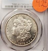 "1878 ""CC"" ""MS61""  - MORGAN SILVER DOLLAR (425)"
